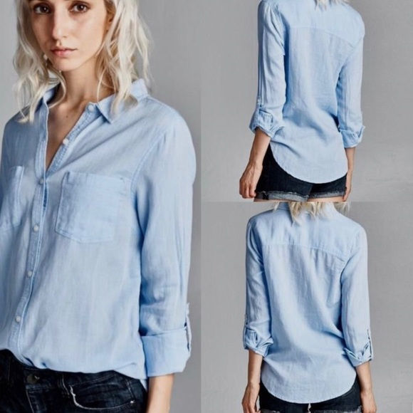 7bc56ea67e Tops | Light Blue Womens Boyfriend Button Down Blouse | Poshmark